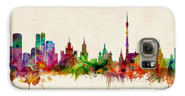 Moscow Skyline Galaxy S6 Case by Michael Tompsett