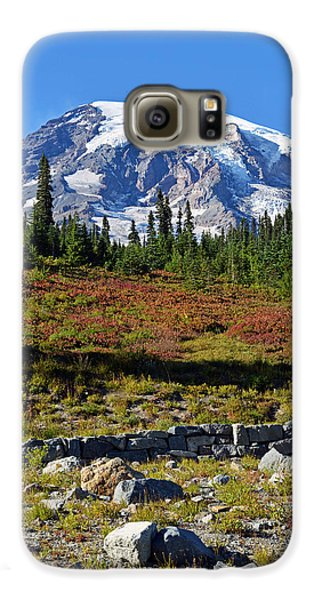 Galaxy S6 Case featuring the photograph Mount Rainier by Anthony Baatz