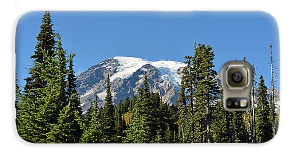 Galaxy S6 Case featuring the photograph Mount Rainier Evergreens by Anthony Baatz
