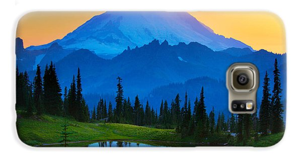 Mount Rainier Goodnight Galaxy S6 Case by Inge Johnsson