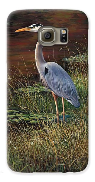 Mrs Blue Heron Galaxy S6 Case by Laurie Hein