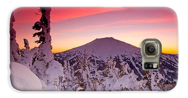 Mountain Sunset Galaxy S6 Case - Mt. Bachelor Winter Twilight by Kevin Desrosiers