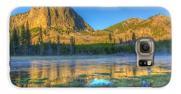 Mt. Hayes Alpine Glow Yellowstone National Park Galaxy S6 Case