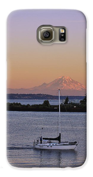 Mt. Rainier Afterglow Galaxy S6 Case by Adam Romanowicz
