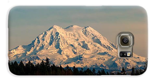 Mt Rainier Winter Panorama Galaxy S6 Case