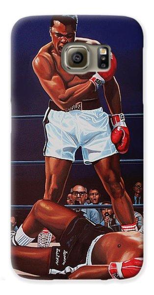 Portraits Galaxy S6 Case - Muhammad Ali Versus Sonny Liston by Paul Meijering