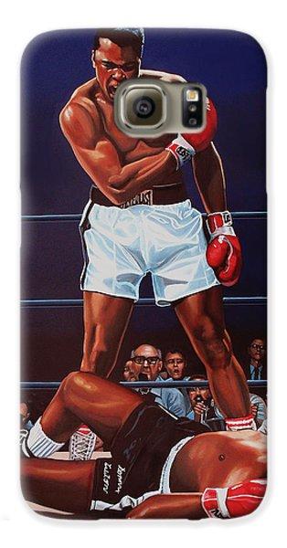 Muhammad Ali Versus Sonny Liston Galaxy S6 Case by Paul Meijering