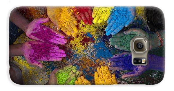 Multicoloured Hands Galaxy S6 Case