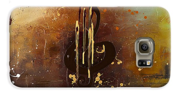 Trombone Galaxy S6 Case - Music All Around Us by Carmen Guedez