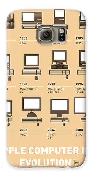 Apple Galaxy S6 Case - My Evolution Apple Mac Minimal Poster by Chungkong Art
