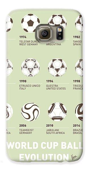 Apple Galaxy S6 Case - My Evolution Soccer Ball Minimal Poster by Chungkong Art
