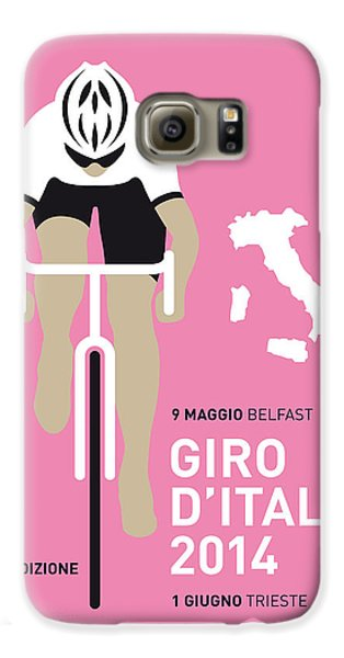 Transportation Galaxy S6 Case - My Giro D Italia Minimal Poster 2014 by Chungkong Art