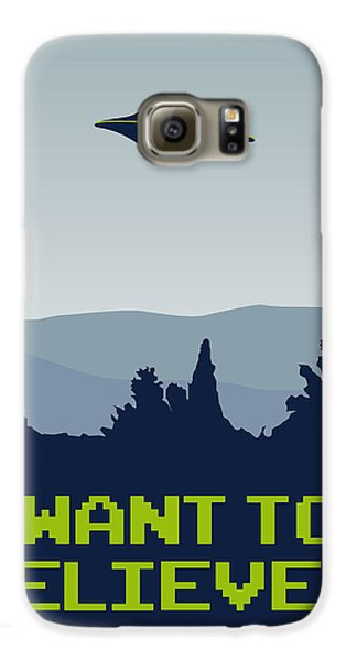 My I Want To Believe Minimal Poster Galaxy S6 Case
