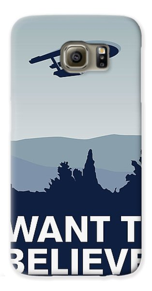 My I Want To Believe Minimal Poster-enterprice Galaxy S6 Case by Chungkong Art