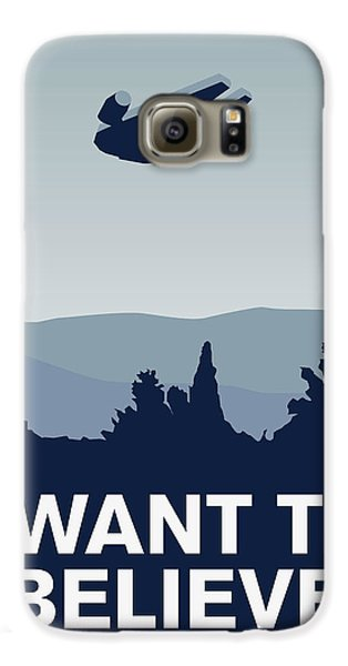 My I Want To Believe Minimal Poster-millennium Falcon Galaxy S6 Case