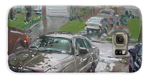 Town Galaxy S6 Case - My Lincoln In The Rain by Ylli Haruni