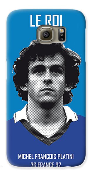 My Platini Soccer Legend Poster Galaxy S6 Case by Chungkong Art