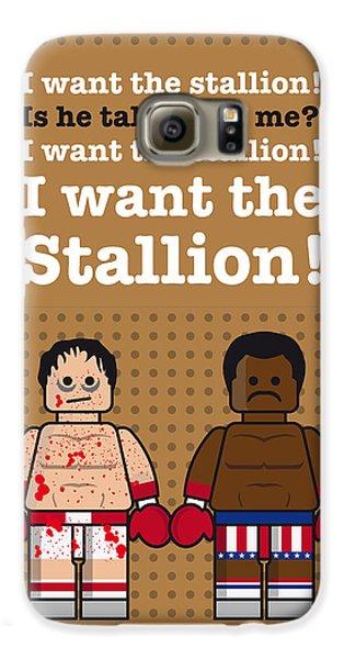 My Rocky Lego Dialogue Poster Galaxy S6 Case by Chungkong Art