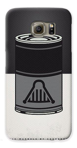 Tomato Galaxy S6 Case - My Star Warhols Darth Vader Minimal Can Poster by Chungkong Art