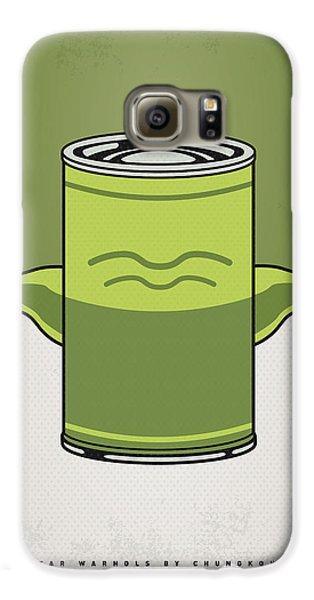 Tomato Galaxy S6 Case - My Star Warhols Yoda Minimal Can Poster by Chungkong Art