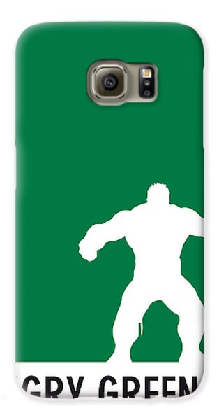 My Superhero 01 Angry Green Minimal Poster Galaxy S6 Case by Chungkong Art