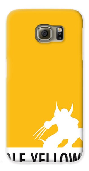 My Superhero 05 Wolf Yellow Minimal Poster Galaxy S6 Case by Chungkong Art