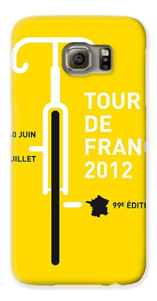 Transportation Galaxy S6 Case - My Tour De France 2012 Minimal Poster by Chungkong Art