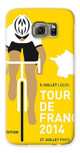 Transportation Galaxy S6 Case - My Tour De France Minimal Poster 2014 by Chungkong Art