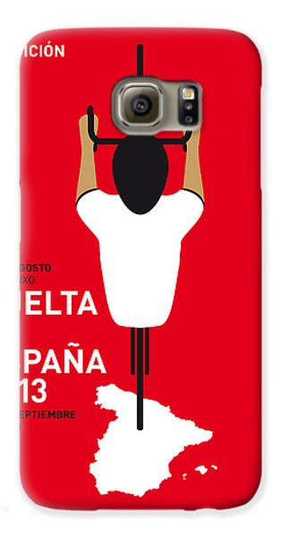 Transportation Galaxy S6 Case - My Vuelta A Espana Minimal Poster - 2013 by Chungkong Art