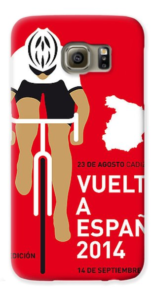 Transportation Galaxy S6 Case - My Vuelta A Espana Minimal Poster 2014 by Chungkong Art