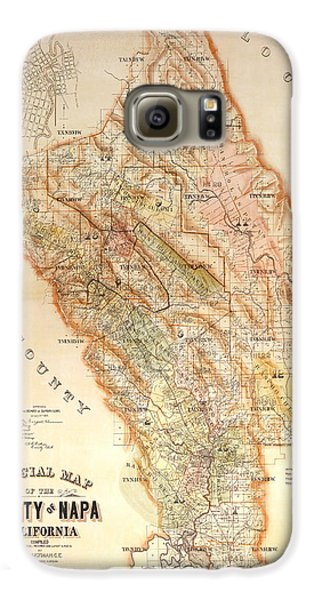 Napa Valley Map 1895 Galaxy S6 Case