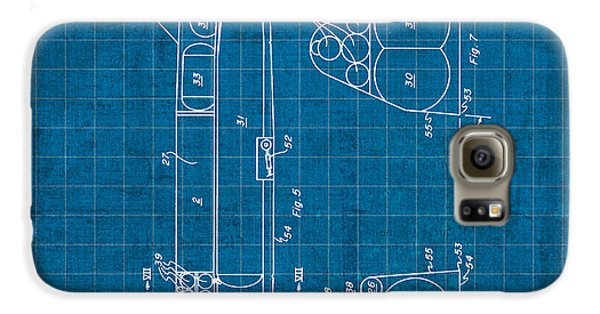 Nasa Space Shuttle Vintage Patent Diagram Blueprint Galaxy S6 Case by Design Turnpike