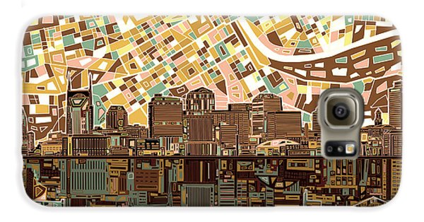 Nashville Skyline Abstract 4 Galaxy S6 Case