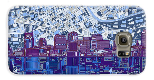 Nashville Skyline Abstract 8 Galaxy S6 Case