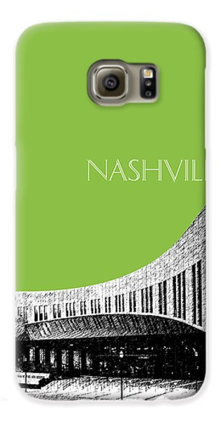 Nashville Skyline Country Music Hall Of Fame - Olive Galaxy S6 Case by DB Artist