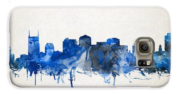 Nashville Skyline Watercolor 11 Galaxy S6 Case