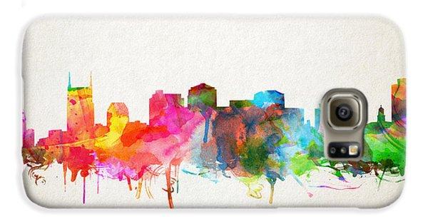 Nashville Skyline Watercolor 9 Galaxy S6 Case