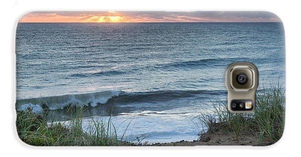 Nauset Light Beach Sunrise Square Galaxy S6 Case