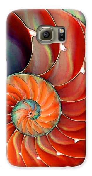 Largemouth Bass Galaxy S6 Case - Nautilus Shell - Nature's Perfection by Sharon Cummings