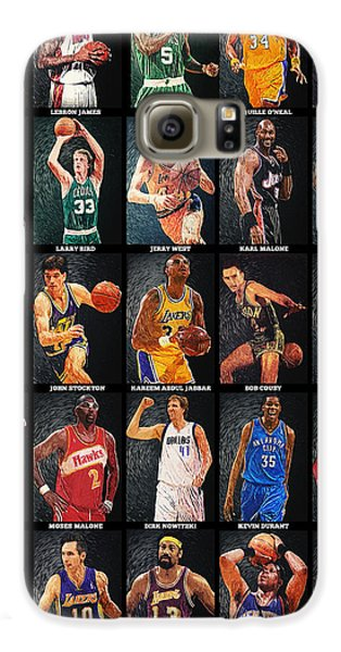 Nba Legends Galaxy S6 Case by Taylan Apukovska