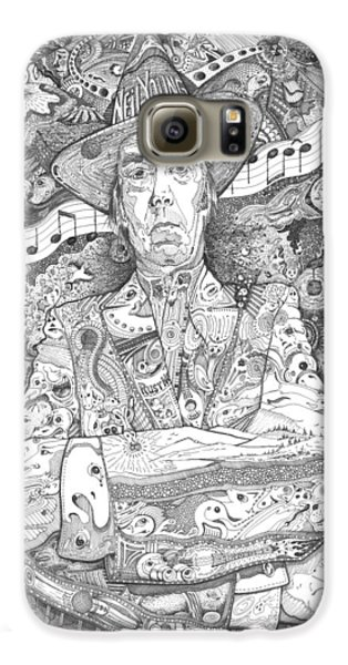Neil Young Lives Music Galaxy S6 Case by Lance Graves