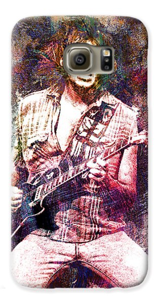 Neil Young Original Painting Print Galaxy S6 Case by Ryan Rock Artist