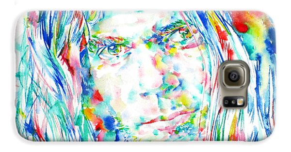 Neil Young - Watercolor Portrait Galaxy S6 Case by Fabrizio Cassetta