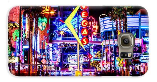 Eiffel Tower Galaxy S6 Case - Neon Vegas by Az Jackson