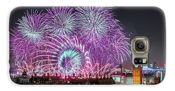 New Year Fireworks Galaxy S6 Case by Stewart Marsden
