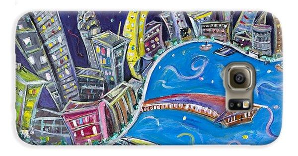 New York City Nights Galaxy S6 Case