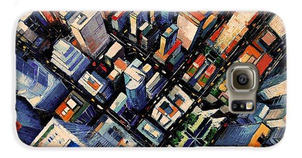 New York City Sky View Galaxy S6 Case