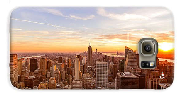 New York City - Sunset Skyline Galaxy S6 Case