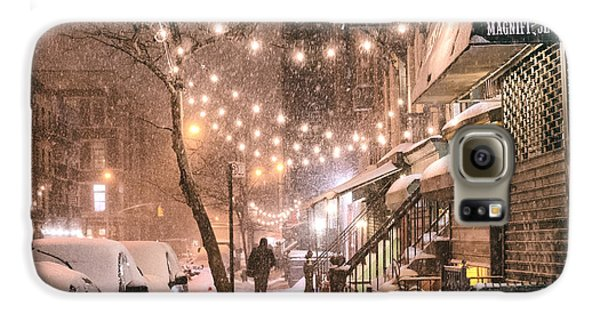 Broadway Galaxy S6 Case - New York City - Winter Snow Scene - East Village by Vivienne Gucwa
