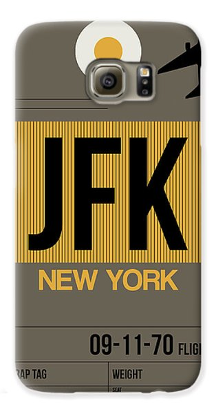 Travel Galaxy S6 Case - New York Luggage Tag Poster 3 by Naxart Studio
